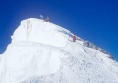 Climbers on summit of Mt. Everest